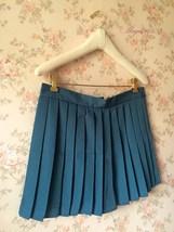 TEAL Green Pleated Mini Skirt Women Girl High Waist School Style Skirt Plus Size image 2