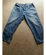 L.L. Bean Men's Jeans Size 44 x 34 Straight Blue Denim Since 1912 100% C... - $24.19