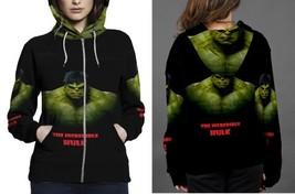 hulk the best poster Hoodie Zipper Women's - $48.99+