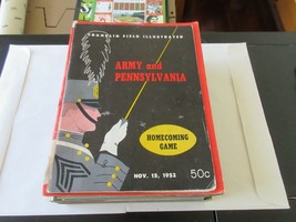 Army and Pennsylvania , November 15,1952 , Franklin Field Illustrated - $49.50