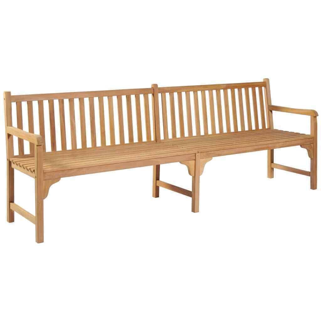 vidaXL Solid Teak Outdoor Bench w/ Finish 3-seater Garden Chair Patio 2 Sizes image 8