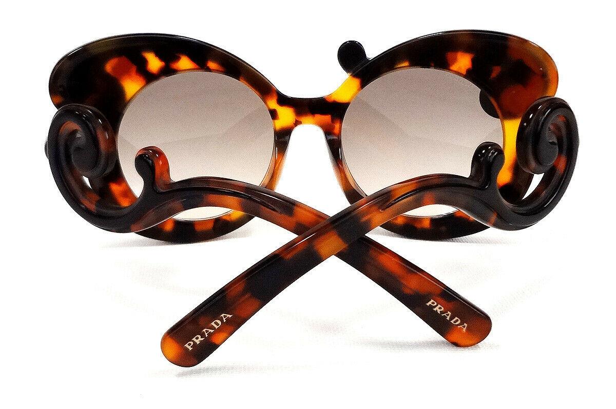 PRADA Women's Sunglasses PR-23NS Havana/Black Minimal Baroque MADE IN ITALY-New!