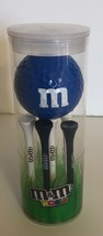M&M's World Blue Character 1 Playable Golf Ball & 6 Tees New with Box Se... - $14.83