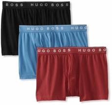 Hugo Boss Men's 3 Pack Sport Premium Cotton Boxer Shorts Trunks 50236732