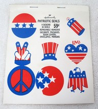 1970s Hallmark 4th July Patriotic Presidential Seal Peace Love Sticker S... - €14,00 EUR