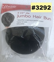 "ANNIE 5 1/2"""" DIAMETER JUMBO HAIR BUN  #3292 IDEAL FOER MAKING A BUN DUR... - $3.95"