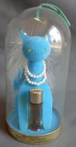 Vintage 1960s Max Factor Blue Sophisti-Cat Blue Cat Domed Mini Primitif ... - $19.99