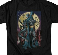 Batman  Catwoman t-shirt retro DC comics black cotton graphic tee BM2258 image 2