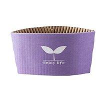 Purple Paper Cuff Sleeve 50 Sleeves per Pack 12 oz 16 oz - $25.30