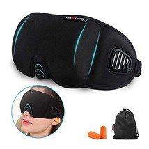 3D Sleep Mask, 100% Light Blockout Eye Mask, Contoured Eye Cover and Big... - $397,46 MXN