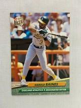 Harold Baines Oakland Athletics 1992 Fleer Baseball Card 109 - $2.96
