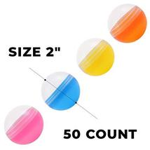 Empty Clear-Colored Round Capsules 2 inch 50 pcs Bulk 7 Colors Capsule For Toy G image 2