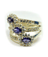 Natural Blue Iolite 925 Sterling Silver Ring Round Cut Size 4,5,6,7,8,9,... - $53.66