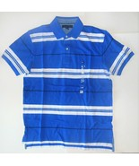 Tommy Hilfiger Mens Polo Shirt Blue and White Size Medium NWT - $38.79
