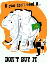 Elephant for sale Decorative Poster.Home wall art.Interior Design.2569 - $11.30+
