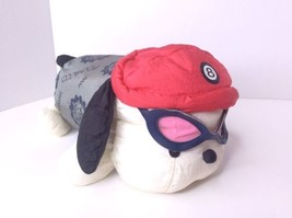 Vintage Sanrio Pochacco Scooter Club Doll With Goggles Plush Stuffed 11in Japan - $237.59