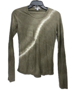 James Perse Stag Tie-Dye Long Sleeve T-Shirt Size 2 MSRP $ 115.00 - $84.14
