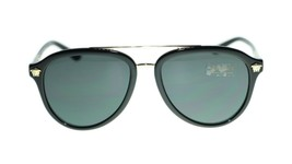 Versace Men Sunglasses VE4341 GB187 Black/Grey Lens 58mm - $154.23