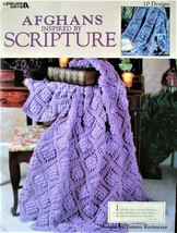 Afghans Inspired by Scripture Leisure Arts 24 Pages 10 Beautiful Designs - $3.95