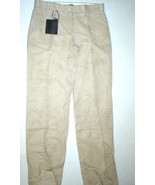New NWT Womens Designer Calvin Klein Collection Pants 10 46 Italy Beige ... - $350.00