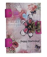 Happy Birthday Print Special Binding With Leather Straps Journal Diary N... - $30.69