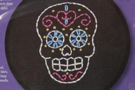 'Learn a Craft' Cross Stitch Kit ~ Dimensions Sweet Sugar Skull 72-74819 Sealed - $6.34