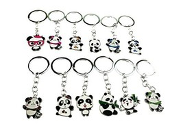Set of 12 Cute Mini Cartoon Metal China National Treasure Panda Themed K... - $13.83