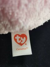 "TY Easter Bunny Rabbit Carnation Pink Purple Beanie Ballz Plush Stuffed 5"" Soft image 5"