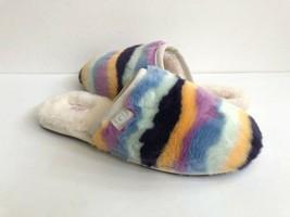 Ugg Fluffette Mural Multi Wool Shearling Lined Slippers Us 12 / Eu 43 / Uk 10 - $92.57