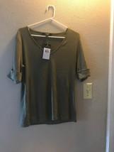 Lauren By Ralph Lauren Women's V Neck Shirt Size L Color Green NWT - $14.84