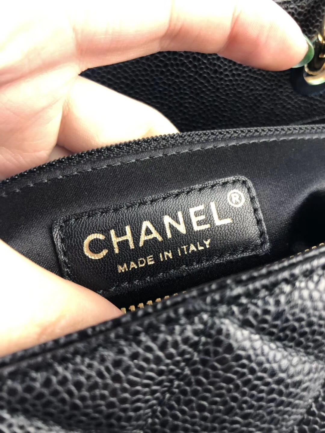 AUTHENTIC CHANEL BLACK QUILTED CAVIAR XL GST GRAND SHOPPING TOTE BAG GHW