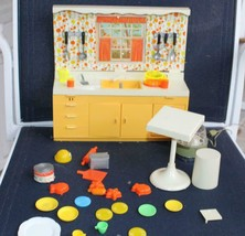 Vintage Ideal Toy Kitchen in Box Partial Set Mini-Matic Hostess Center - $60.78
