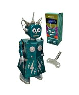 "ELECTRA ROBOT 5.5"" Saint St. John Wind Up Tin Toy Collectible Retro Spac... - $26.95"