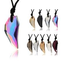 Reiki Pendulum Natural Stone Amulet Healing Crystal Pendant Meditation S... - $10.44