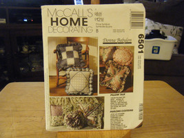 McCall's 6501 Variety of Throw Pillows Pattern - $6.24