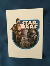 Star Wars Journey to The Force Awakens Cloth Stickers #CS-1 Droids  *NEW* t1 - $5.99