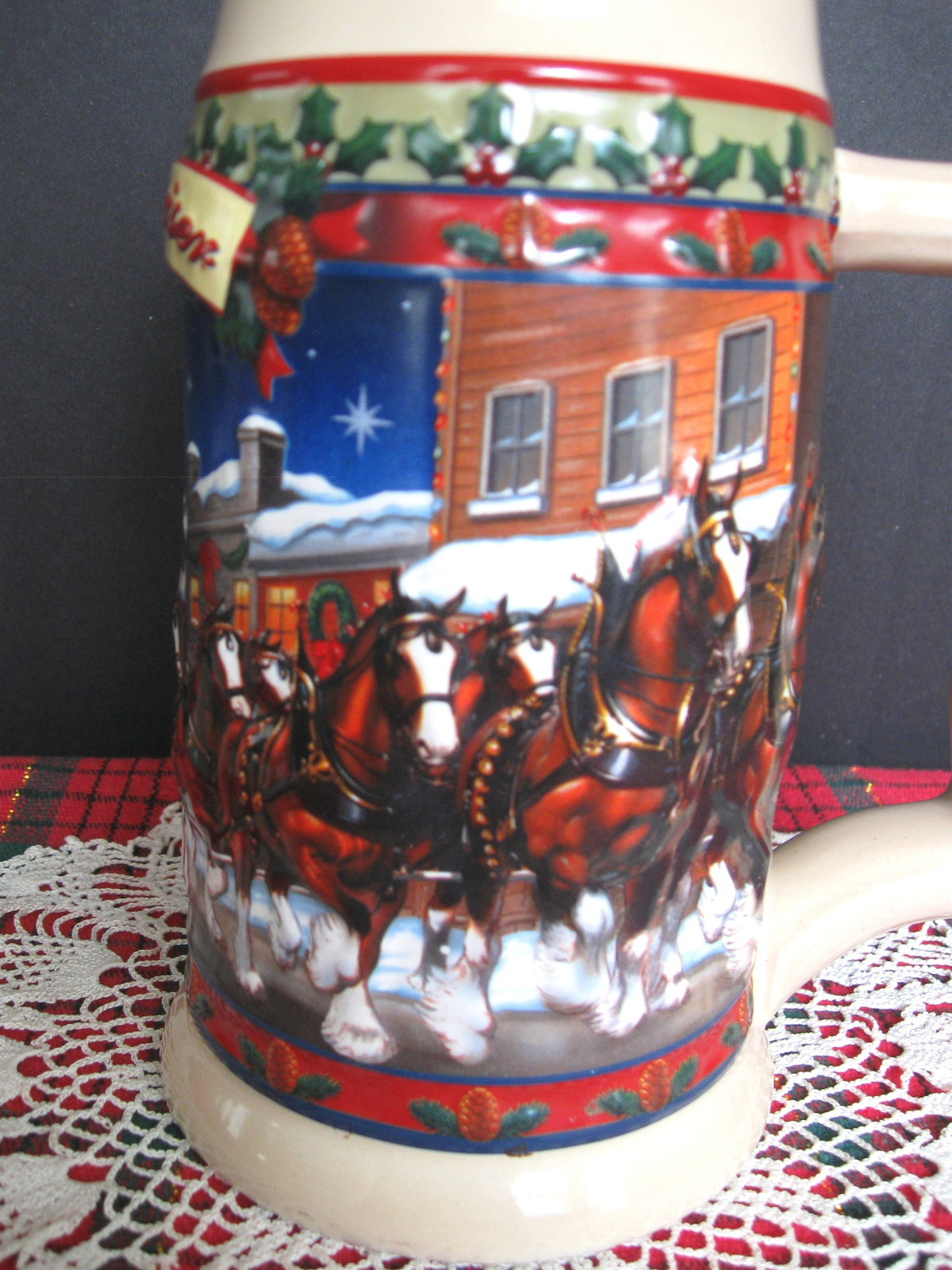 2003 Budweiser Holiday Stein - Old Towne Holiday - No. CS560 - No Box image 7