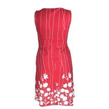 Spense Dress 12 Red White Stripe Silhouette Flower Empire A Line Rockabilly L image 4