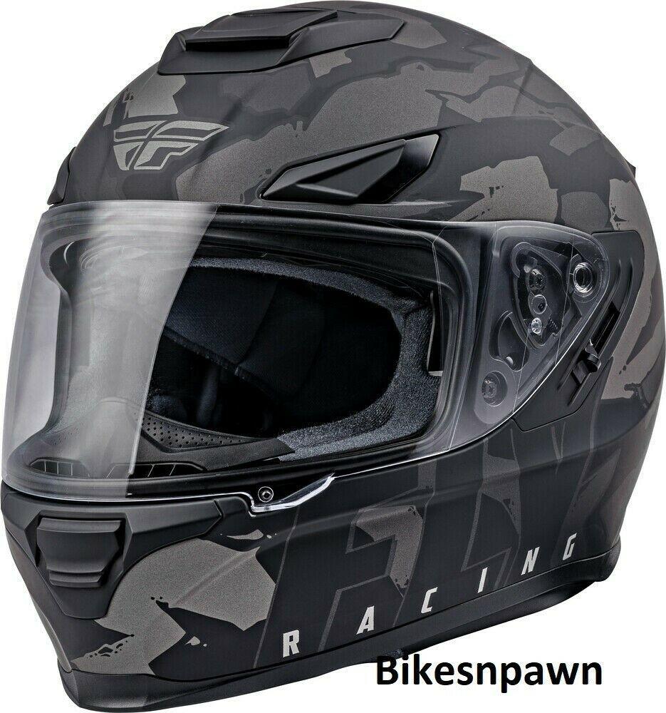 L Fly Racing Sentinel Ambush Motorcycle Helmet Camo/Grey/Black DOT & ECE