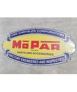 """HUGE 24"""" Oval shaped mopar dodge Chrysler logo USA american steel metal ... - $75.66"""