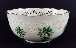 "LENOX China Holiday Dimension Pierced All Purpose Bowl 6"" Dinnerware - $19.79"