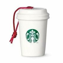 HTF Starbucks Paper Cup Ornament - Logo (011042116) - $18.70
