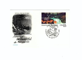 """POSTCARD-""""THE WOODLANDS""""-AMERICA THE BEAUTIFUL SERIES FIRST DAY OF ISSUE... - $2.94"""