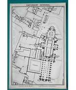 Seven (7) 1897 Plans - ENGLAND Cathedrals Durham Lincoln Lichfield Cante... - $17.55