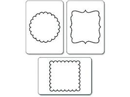 Sizzix Sizzlits Die Set, Decorative Circles and Squares #656321 image 2