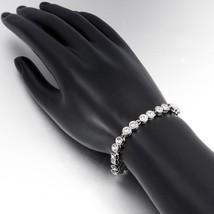 Fashion Bracelet CZ Rhinestones Crystal Tennis Silver Bracelet White Gold Plated - $12.73