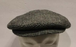Vintage Kangol Harris Tweed Wool Newsboy Cabbie Hat Sz Medium Union Made... - $30.84