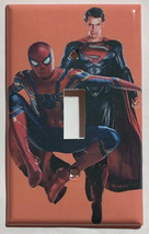 Spiderman Superman Light Switch Outlet Toggle Rocker Wall Cover Plate Home Decor
