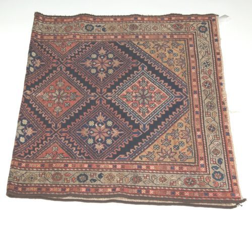 Unbranded DV63 Area Rug Symmetrical Design Hand Made Multi Colored