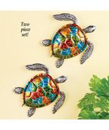 Colorful Sea Turtles Metal Wall Art - Set of 2 - $26.16